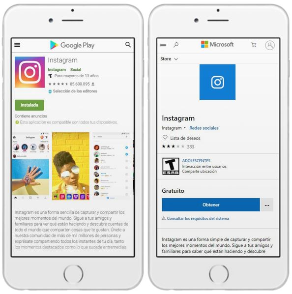 Apps para descargar Instagram en Android y Windows